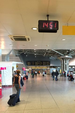 Bodet Style 12 clock at Lisbon airport