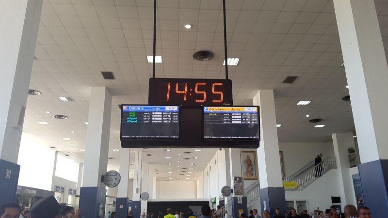Bodet clocks installed in Béjaïa airport, Algeria
