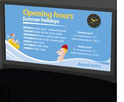 Aquastyle LCD-videoanzeige für schwimmbäder