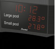Aquastyle LED-anzeige für schwimmbäder