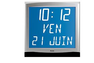 Hinterleuchtete LCD-Uhr