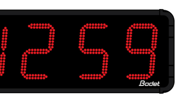HMS LED 45: eine große Uhr