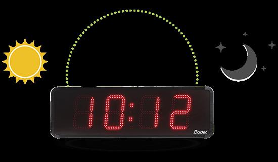 Die HMT-Uhr LED 25 passt ihre Helligkeit automatisch an ihre Umgebung an