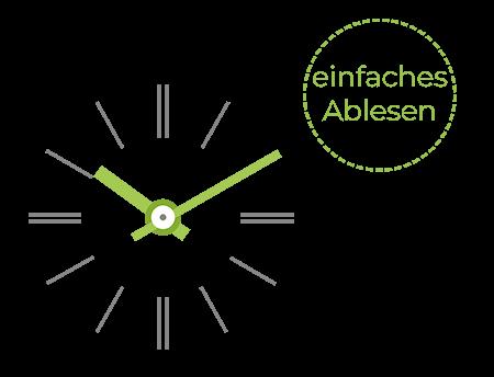 Die Uhr Profil TGV 930 bietet einfaches Ablesen