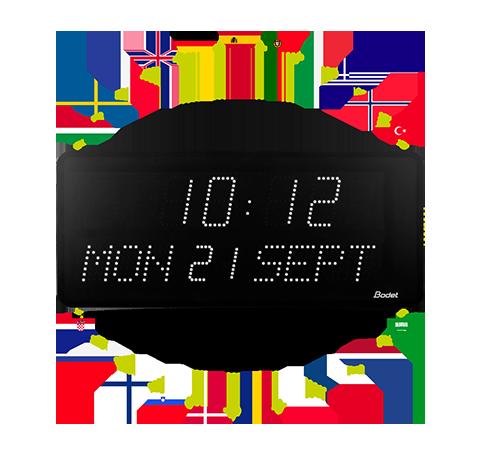 LED-Uhr Style 10 Date – Datumsanzeige in verschiedenen Sprachen