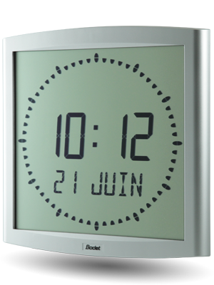 LCD clock Cristalys Ellipse