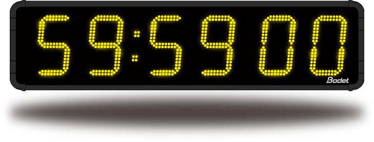 LED HMT clock - Time, date and timer