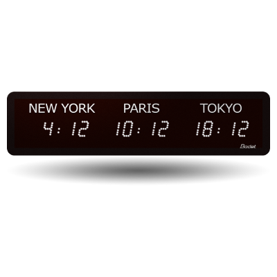 Multi-time zone clock: World time