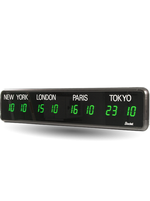 LED timezone clock