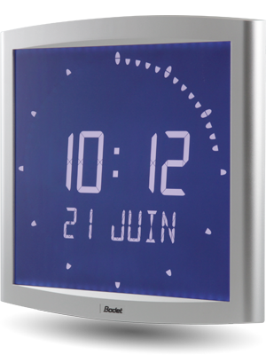 LCD-Uhr Opalys Ellipse