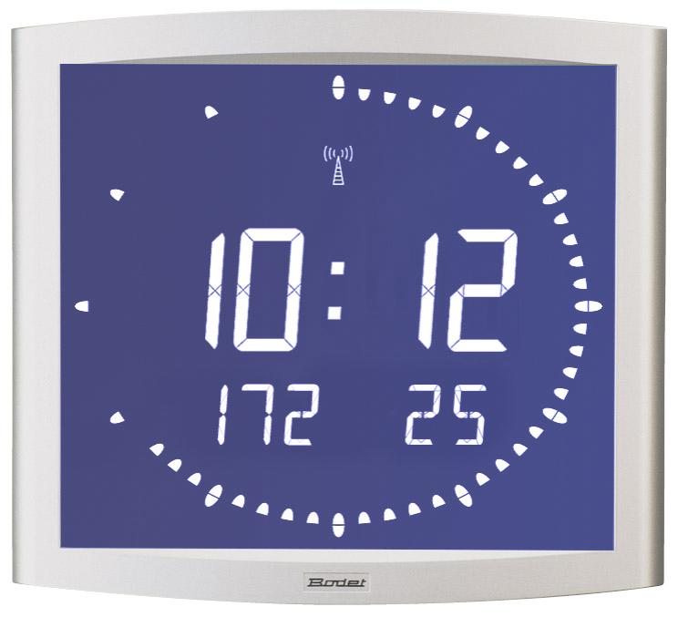 Bodet time bodet time lcd clock backlit opalys ellipse - Horloge murale led sans fil ...