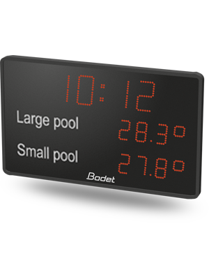 Outdoor Swimming Pool Clocks.Aquastyle Display Hour And Tempetures In Swimming Pool
