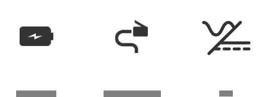 iconos consumo POE, muy baja tensión, pila