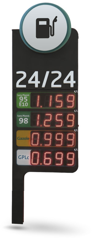 LED petrol price displays Bodet