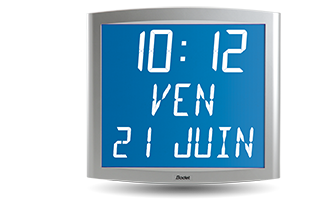 Backlit LCD clock