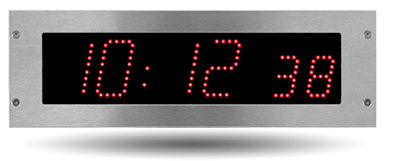 Recess-mounted Style 7SOP LED clock