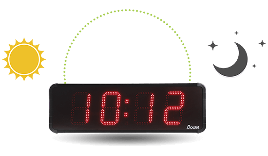 The HMT LED 25 clock automatically adapts its luminosity according to its environment