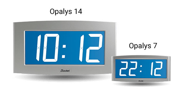 Opalys 14, one large clock