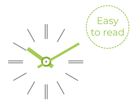 Easy reading for the Profil TGV 930 clock
