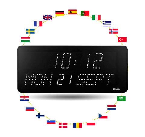 Style10-Date LED-clock - date display in different languages