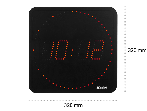 Dimensions Style 7 Ellipse clocks