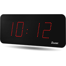 Bodet red style 10 led clock