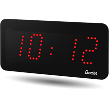 Bodet red style 5 led clock