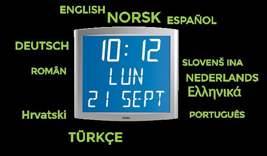 Varios idiomas disponibles para el reloj Opalys Date