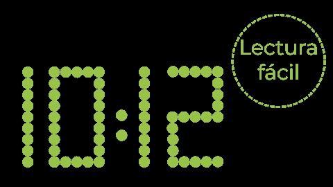 Legibilidad visualización reloj led style date