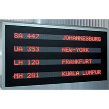 sistema de visualización LED