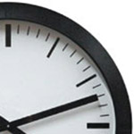 reloj de pared para oficina con caja negra