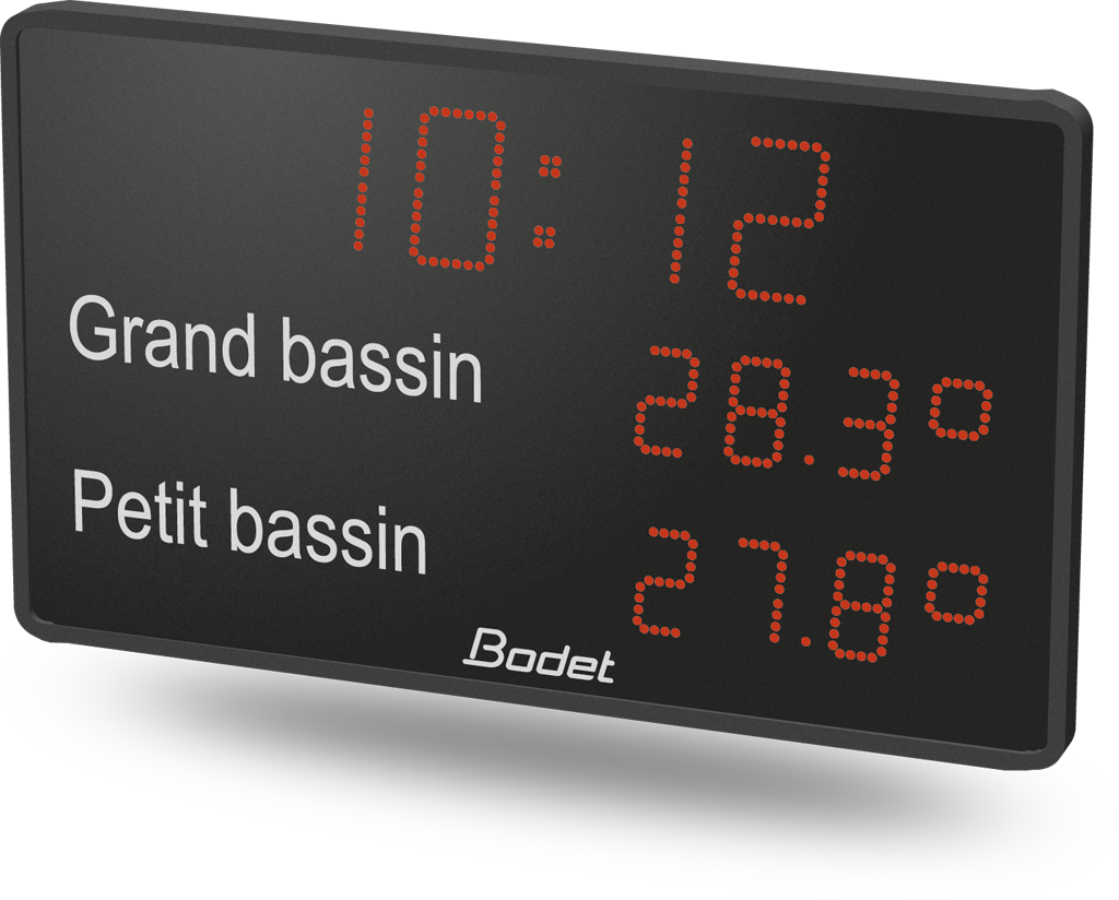 Bodet time horloge digitale led for Afficheur numerique exterieur