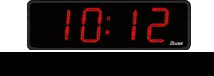 bodet time gamme horloge led heure minute temp rature 15 cm. Black Bedroom Furniture Sets. Home Design Ideas