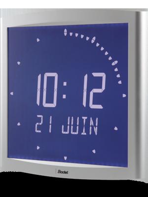 Bodet time horloge digitale lcd r tro clair e opalys ellipse - Horloge murale led sans fil ...