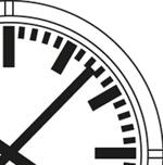 Horloge analogique Profil cadran DIN