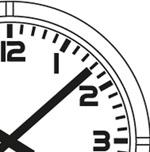 Horloge analogique Profil cadran chiffres