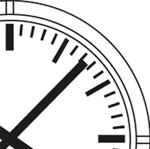 Horloge analogique Profil cadran traits