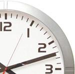 Horloge-analogique-Profil-couleur-alu