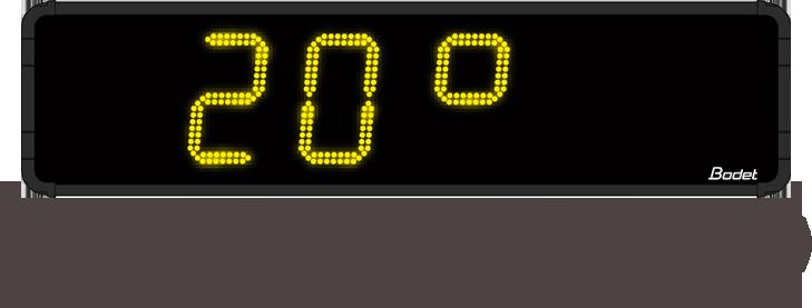 Horloge-digitale-HMS-LED-25-Temperature
