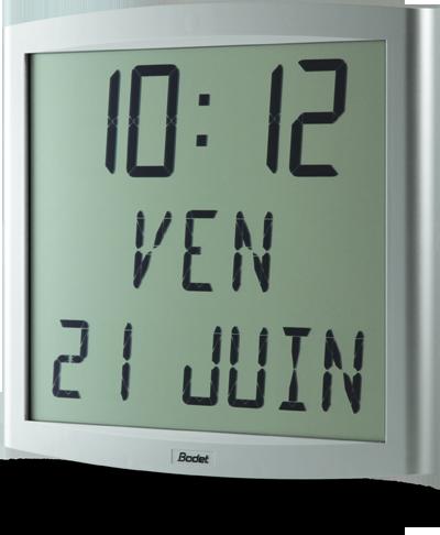 bodet time - gamme horloge digitale lcd intérieur - cristalys date