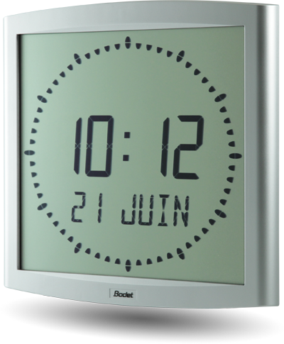 Horloge-LCD-Cristalys-Ellipse