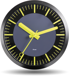 bodet time horloge analogique pour int rieur et ext rieur profil tgv. Black Bedroom Furniture Sets. Home Design Ideas