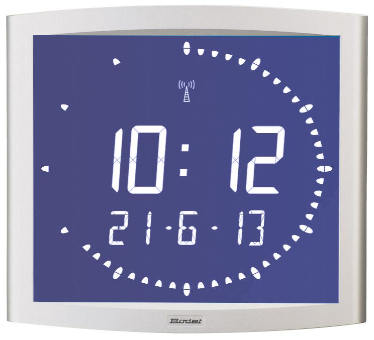 Bodet Time - Horloge digitale LCD rétroéclairée Opalys Ellipse