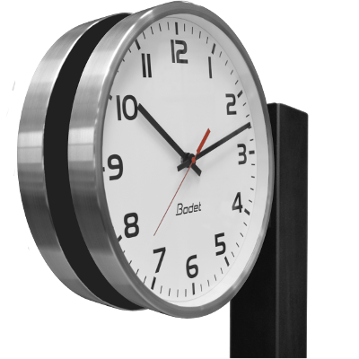 Metal analogue clocks - Double-sided bracket