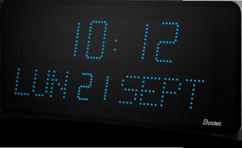 bodet time horloge led grande taille avec date heure et minute. Black Bedroom Furniture Sets. Home Design Ideas