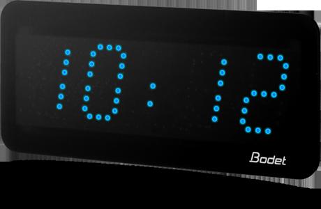 horloge led style 5 bleu bodet