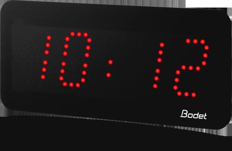 horloge led style 5 rouge bodet