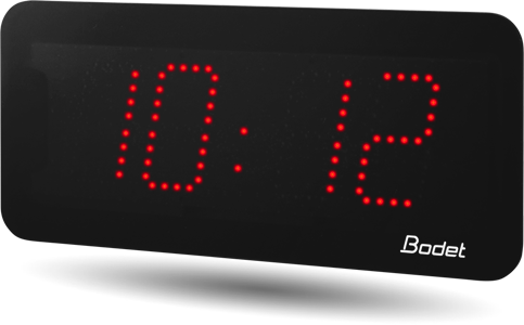 horloge led style 7 rouge bodet