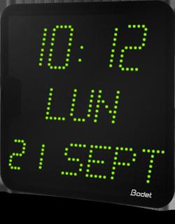 horloge led style 7D vert bodet