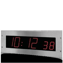 horloge LED style 7S Hopital rouge min